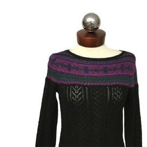 LAUREN Ralph Lauren Fair isle boatneck sweater S